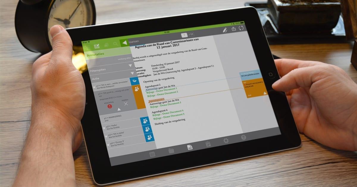De OurMeeting vergader app   Gedeelde en persoonlijke annotaties view